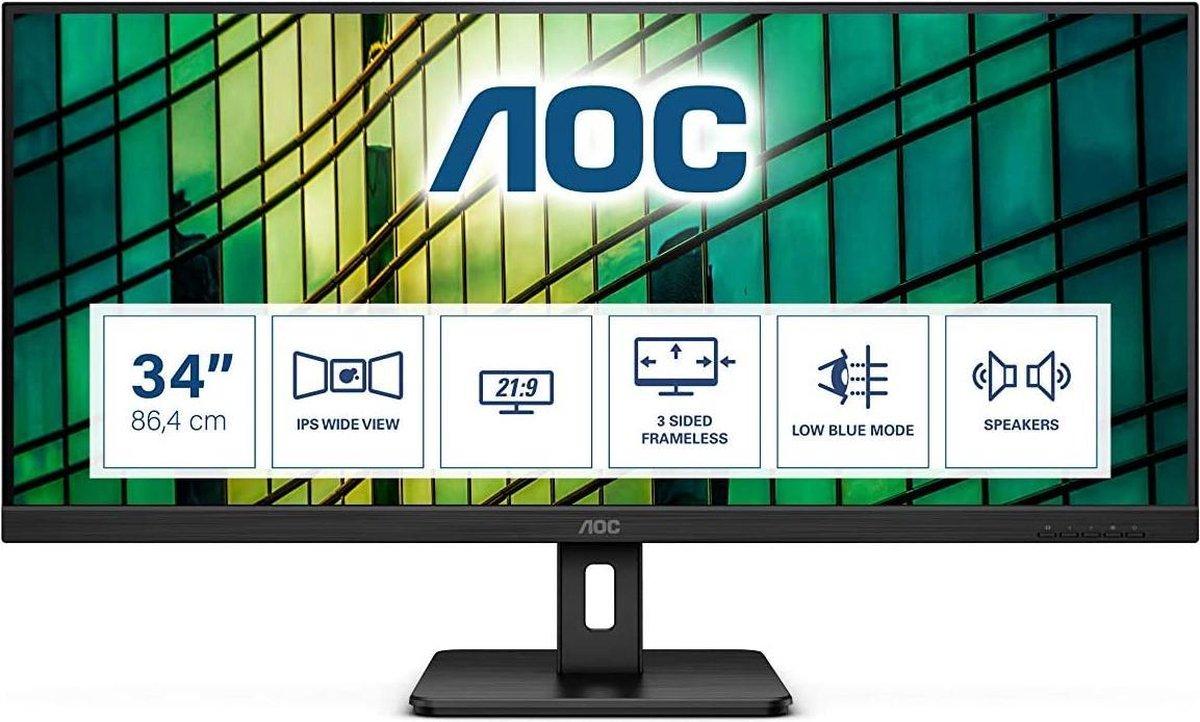 AOC Q34E2A – Ultrawide Full HD IPS Monitor – 34 inch