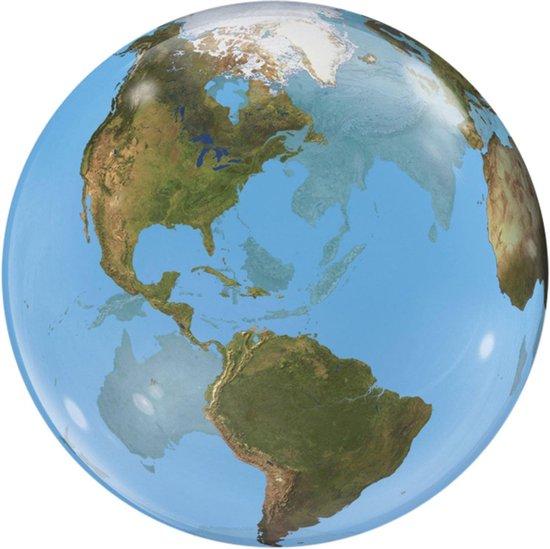 Folat Ballon Planeet Aarde 56 Cm Latex Blauw/groen