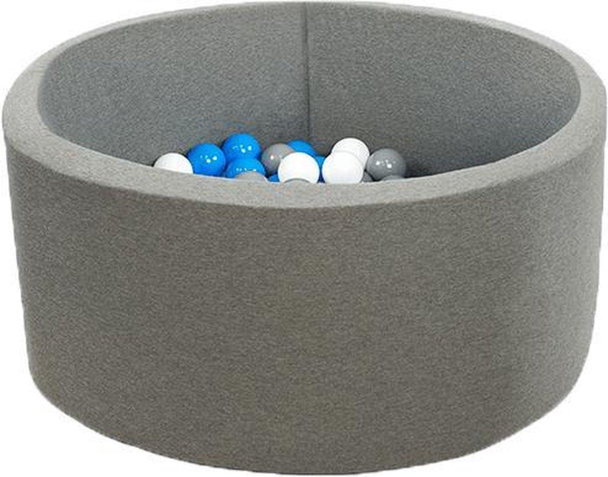 Ronde Ballenbad 100x40 Smart Grijs - Ballenbak met 300 ballen - Blauw, Wit, Grijs - Ballenbad baby - Ballenbak met ballen - Ballenbad - Ballenbad Rond - Ballenbad Misioo - Ballenbak - Luxe ballenbak voor kinderen - Luxe ballenbad voor kinderen