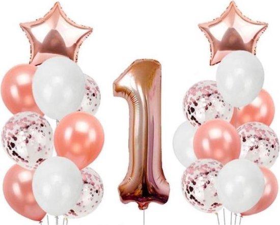 Versiering Verjaardag 1 Jaar Meisje  |Ballonset  21 stuks