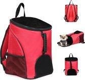 Bagwise Draagtas huisdieren - Reistas - Rugzak - Petbag - Transport - Voor kleine Honden en Katten - Rood