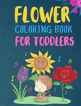 Flower Coloring Book For Toddlers