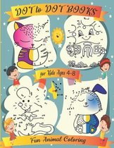 Dot to Dot Books for Kids Ages 4-8 Fun Animal Coloring