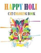 Happy Holi Cat Coloring Book