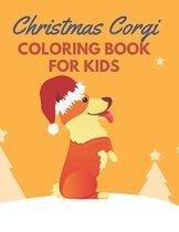 Christmas Corgi Coloring Book For Kids