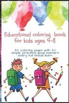Educational coloring book for kids ages 4-8