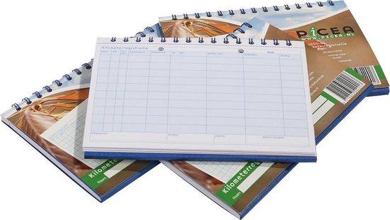 Picea Kilometerregistratieboek | Kilometer registratieboek | Kilometerregistratie met doorschrijf formulier