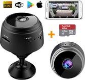 Spy Camera - 1080P HD - Spy Camera Wifi met App - Live Streamen - Mini Camera - Beveiligingscamera Binnen - Verborgen Camera - WiFi Camera Binnen Draadloos – Magnetische Montage - Incl. 32GB Micro SD