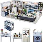 Hewec Mini DIY huis Miniatuur Bouwpakket modelbouw poppenhuis set 02