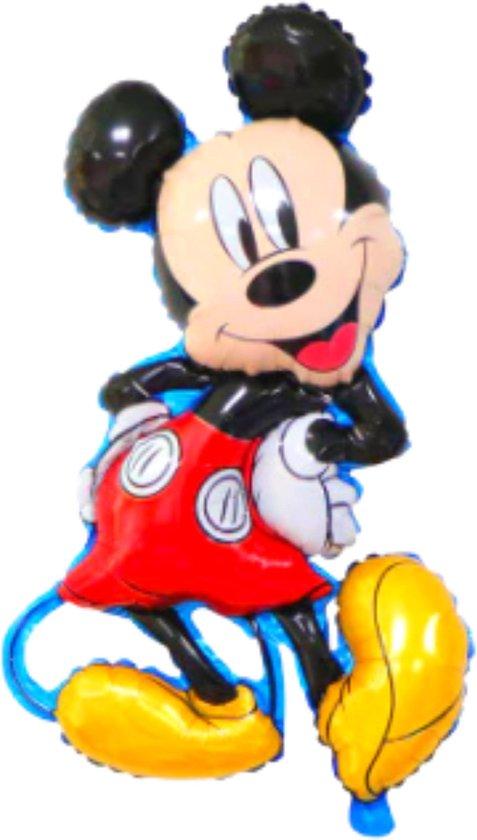 Blije Ballon® - Mickey Mouse Ballon - 83 x 43 cm - Disney - Disney Princess Ballon - Inclusief Opblaasrietje - Ballonnen - Ballonnen Verjaardag - Helium Ballonnen - Folieballon - Disney - 71 x 55 cm - Mickey Mouse Speelgoed