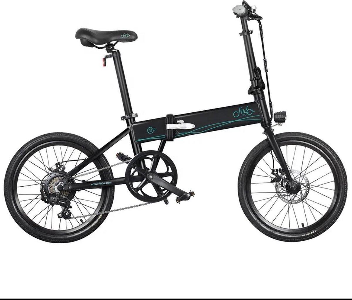 Matrix E Bike FIIDO D4s 6 Speed - Elektrische Vouwfiets - Zwart - 25 km per uur - 20 Inch - 10.4 Ah