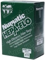 Numatic  hepa-flo stofzuigerzakken - 10st - nvm-1ah stofzakken stofzuigzakken hvr160 henry, het160 hetty