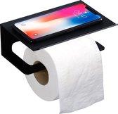 WC Rolhouder - WITTS Toiletrolhouder - Hoge Kwaliteit - met Oplegplankje - Zelfklevend  - Badkamer - Badkamer Accessoires