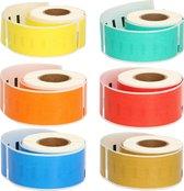 FLWR Labelrol / 99010 / 6 kleuren - Geschikt voor Dymo