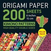Origami Paper 200 sheets Kimono Patterns 6 (15 cm)