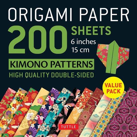 Boek cover Origami Paper 200 sheets Kimono Patterns 6 (15 cm) van Tuttle Publishing (Onbekend)