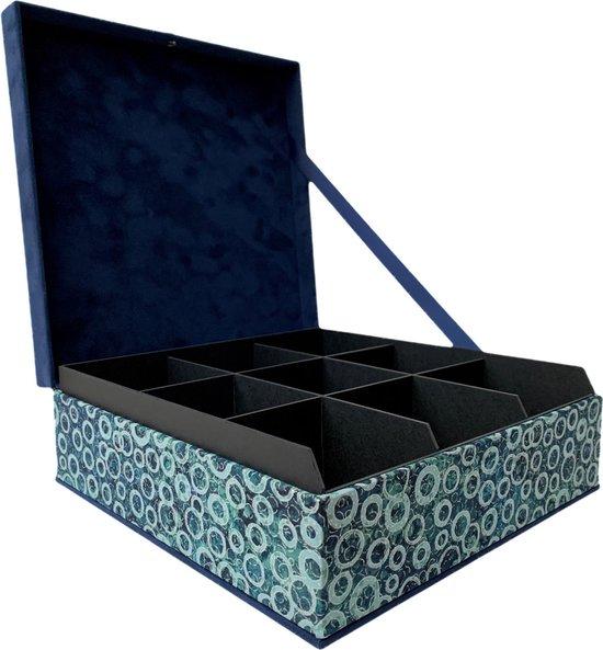 The Box For Tea Eclips Shimmer Theedoos met Thee Cadeau - 9 vaks - Blauw