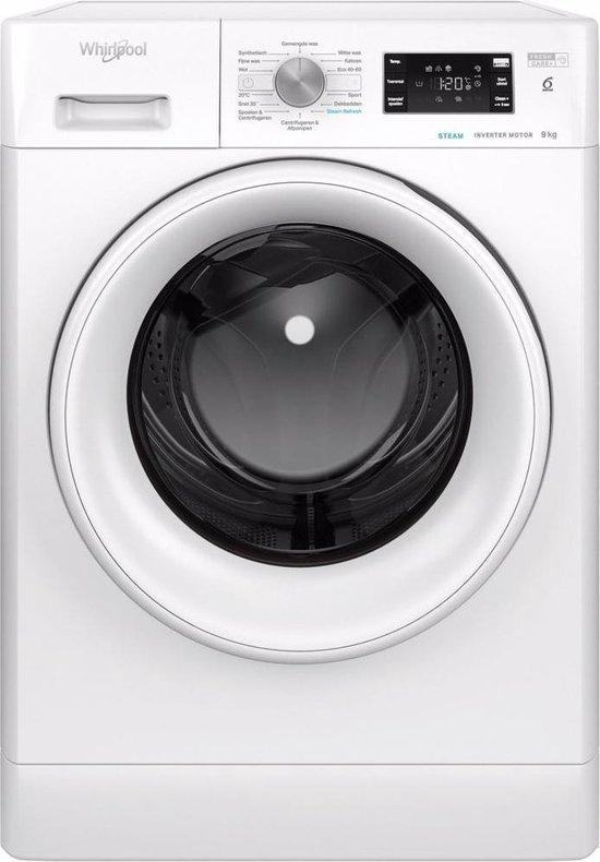 Whirlpool vrijstaande wasmachine: 9,0 kg - FFB 9468 WEV NL