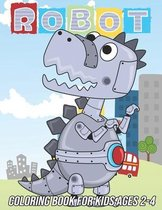 Robot Coloring Book for Kids Ages 2-4