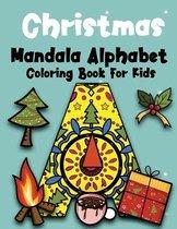Christmas Mandala Alphabet Coloring Book For Kids