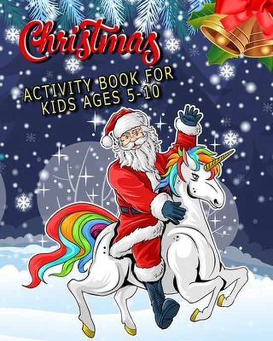 Christmas Activity Book for Kids Ages 5-10