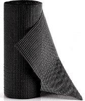 SWILIX ® Antislipmat voor Kasten en Lades, Dienblad, Vloer - 4 meter Rol - Anti Slip Mat - Zwart