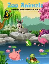 Zoo Animals - Coloring Book For Boys & Girls