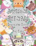 Awesome Animals Coloring Book For Kids