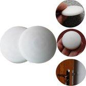Zelfklevende deurbeschermers - 2 Stuks - Wit - Deurbescherming - Deurstoppers - Muurbeschermer - Muurbescherming - Deurstoppers - Siliconen deurstoppers - Deurklink buffers - Zelfklevend - Deurklink - Stootrubber deur - Deurkruk buffer