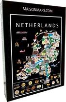 Puzzel van Nederland   1000 stukjes   68x48 cm   Familiepuzzel   Jigsaw   Legpuzzel   Maison Maps