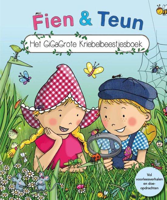 Boek cover Fien en Teun  -   Fien & Teun - Het GiGaGrote Kriebelbeestjesboek van van Hoorne (Hardcover)