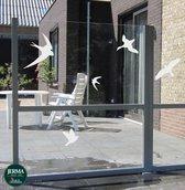 Vogelbescherming  raamstickers set 5 vogels  Wit (8)