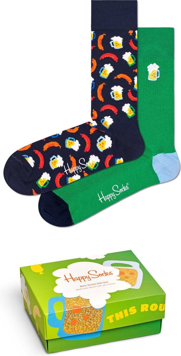 Happy Socks XBEE02-7300 Beer 2-pack Gift Box - Maat 41-46