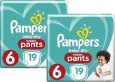 Pampers Baby-Dry Pants Luierbroekjes Maat 6 (15+ kg) - 38 stuks (2x19)