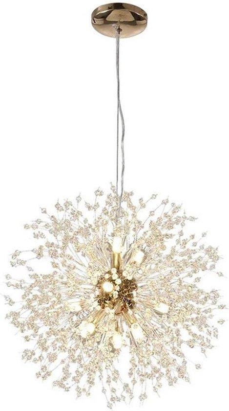 Vuurwerk / Paardenbloem Kroonluchter - Goudkleurig - 50cm - Inclusief lamp peertjes / gloelampen