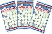 Power Mottenballen 3 x 140gram wit in zak | Motten bestrijden | Motten anti |