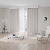 1x Kant-en-Klaar Gordijn - Cream - Lichtdoorlatend - Lengte aanpasbaar - met haken - 140x280cm