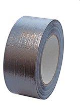 Ducttape - Plakband - Reparatietape - Steentape - Textieltape - Grijs - 50 mm x 50 m