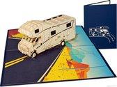 Popcards popupkaarten – Alkoof Camper vrijheid vakantie kamperen caravan pensioen pop-up kaart wenskaart