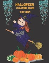 Halloween Coloring Book for Kids: 30 Designs, 60 Pages: Halloween, Happy Halloween with Boys Activity Book for Girls and Toddlers 3-8 Years