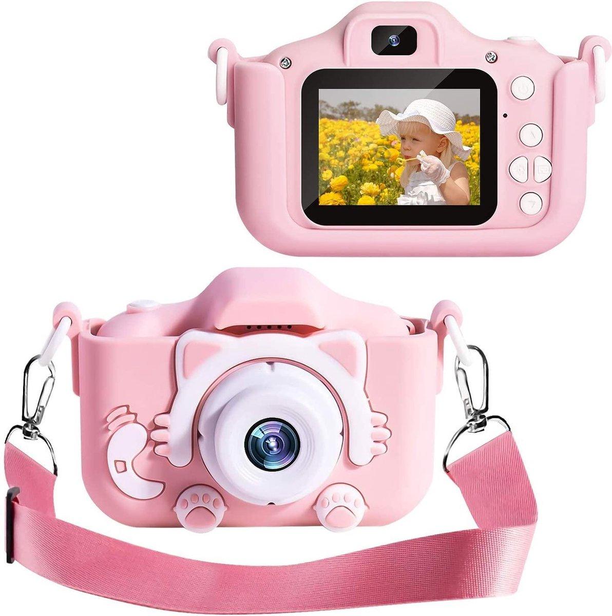 Digitale Kindercamera HD 1080p 32GB Inclusief Micro SD Kaart - Vlog Camera voor Kinderen - Digitaal