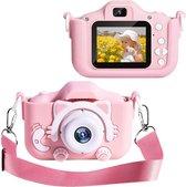 OHOME® Digitale Kindercamera HD 1080p 32GB Inclusief Micro SD Kaart - Vlog Camera voor Kinderen - Digitaal Kinderfototoestel - Klein Formaat Speelgoed Camera - Roze