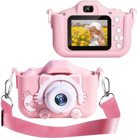 Digitale Kindercamera HD 1080p 32GB Inclusief Micro SD Kaart - Vlog Camera voor Kinderen - Roze