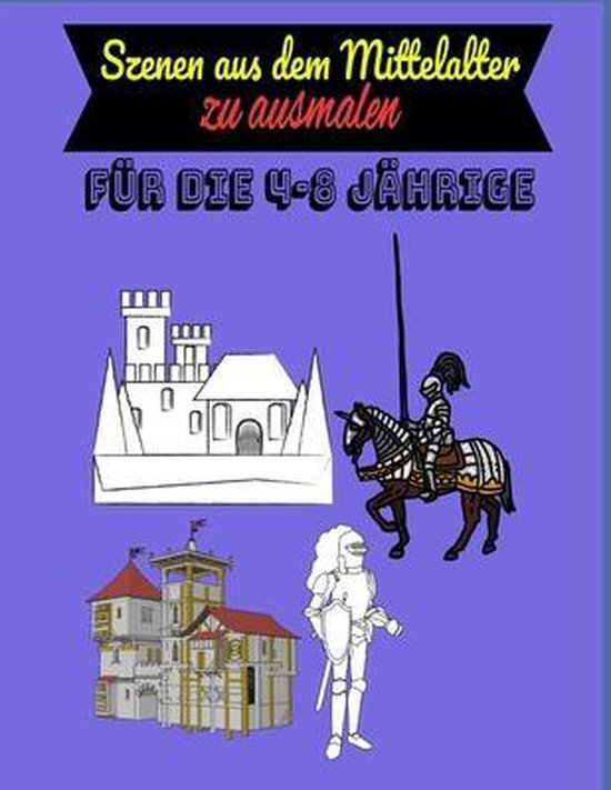 Szenen aus dem Mittelalter zum ausmalen