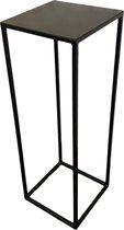 Plantentafel, metaal, kleur zwart, hoog 80 cm
