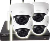 Dahua 4 megapixel wifi camerasysteem - 4 dome wifi camera's - 30 meter nachtzicht - mpsetw43