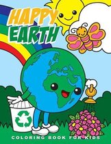 Happy Earth Coloring Book for Kids