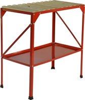 Oppottafel metaal 77 x 40 x 77 cm rood tuinwerktafel