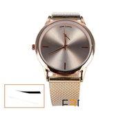 Horloge strak en stijlvol rose kleur + extra batterij + doosje