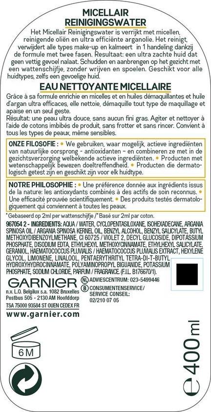 Garnier SkinActive Micellair Water in olie - 400 ml - Alle huidtypes